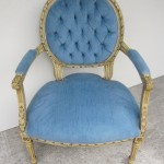 Blue French Chair