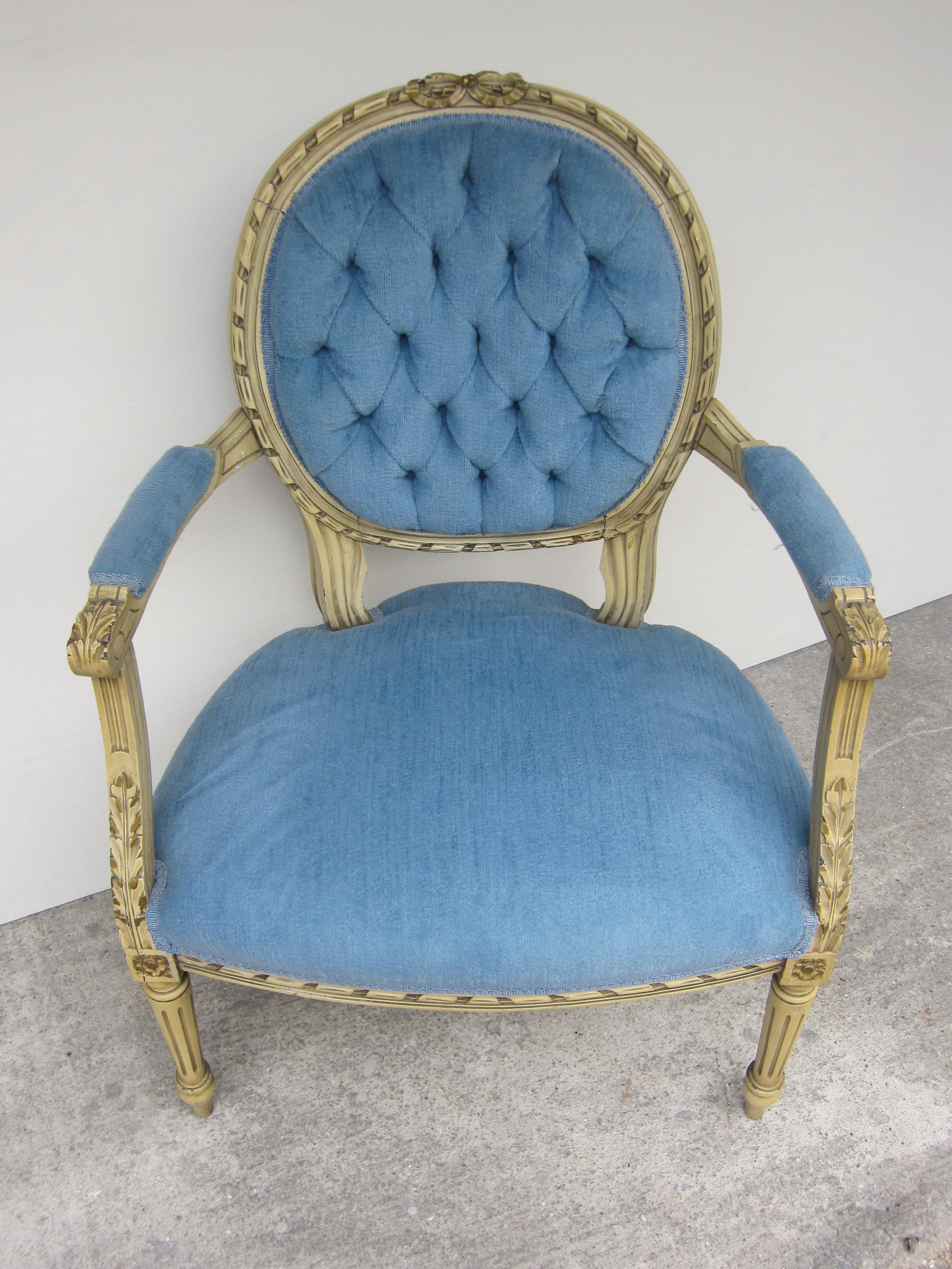 Antique french chair - Blue French Chair