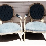 Blue French Chairs