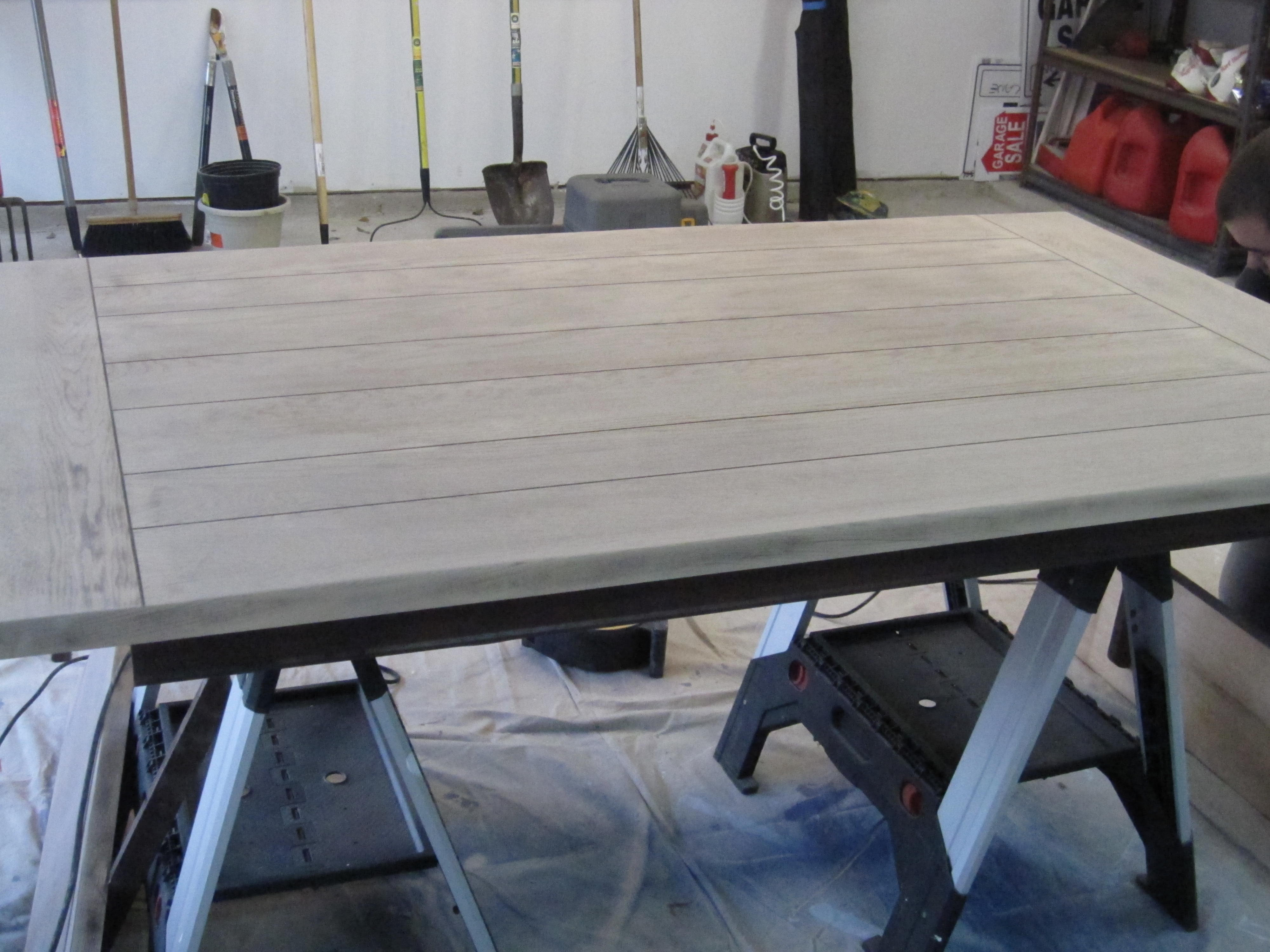 Refinishing A Dining Room Table Dining Room Table Before Amp After Houston Furniture Refinishing