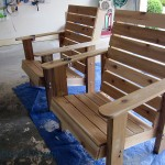 Raw chairs before staining