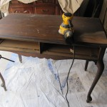 Desk with original finish