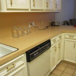 Before - Orange/Pink Countertops