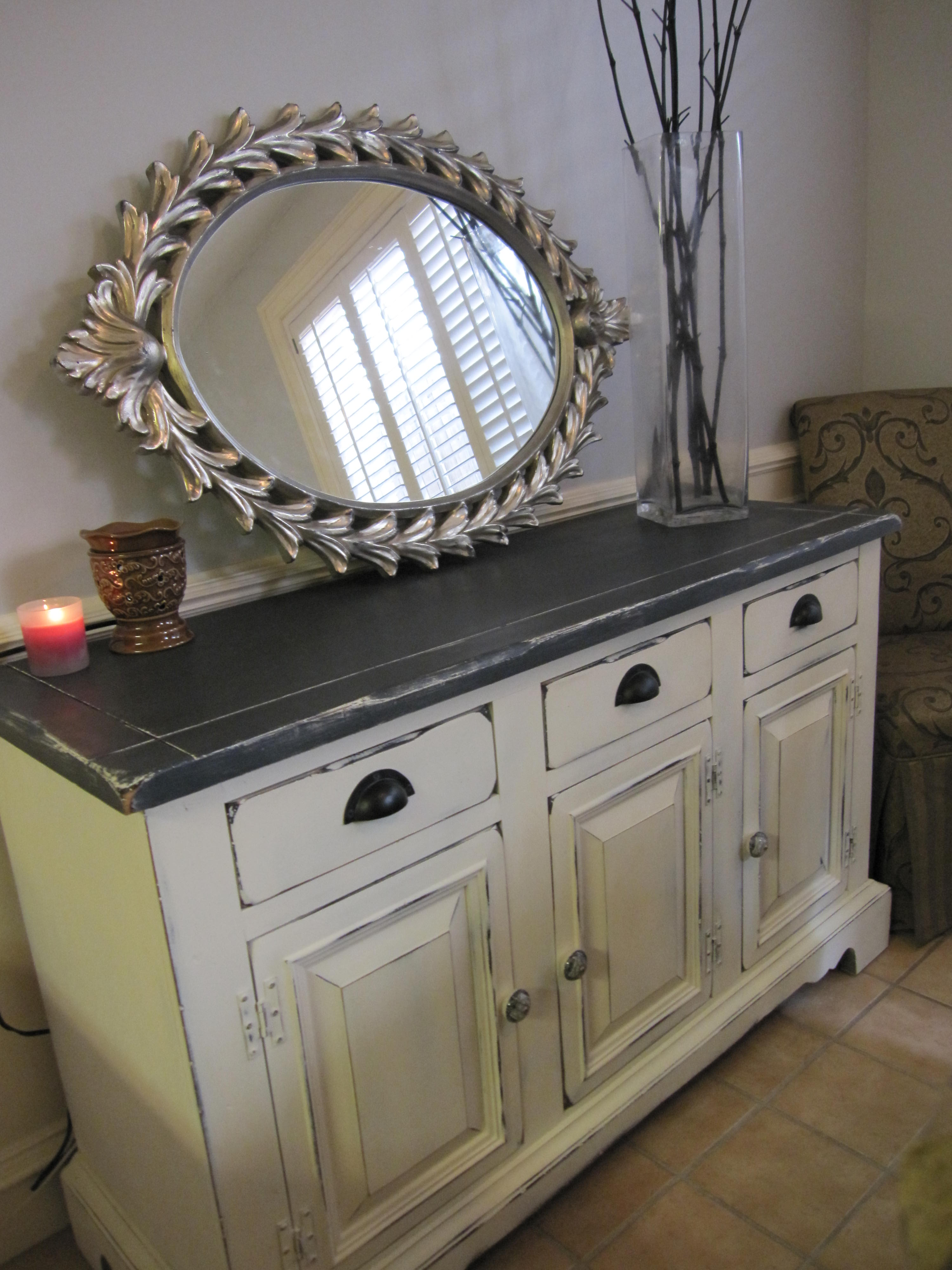 Ugly Buffet Hutch To A Kitchen Storage Swan Houston