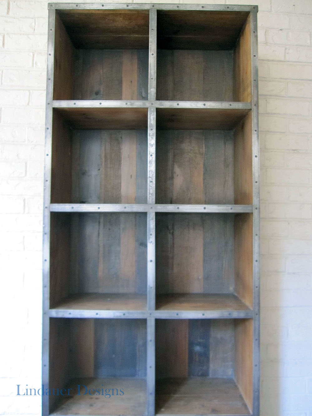 Inside Drawers Large Industrial Bookcase Close Up Of Shelves ...