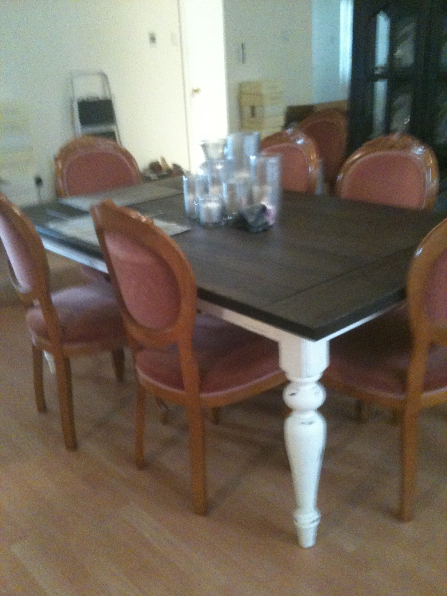 Houston Dining Room Furniture Dining Room Table  Before & After  Houston Furniture Refinishing .