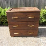 3 Drawer Solid Wood Rope Front Dresser