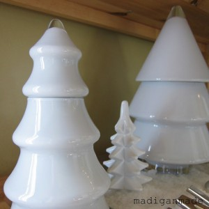 Madigan Made DIY painted milk glass christmas trees
