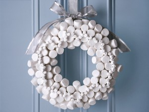 arshmallow Wreath by the Food Network
